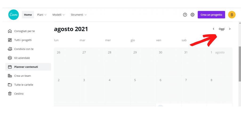 content planner calendario